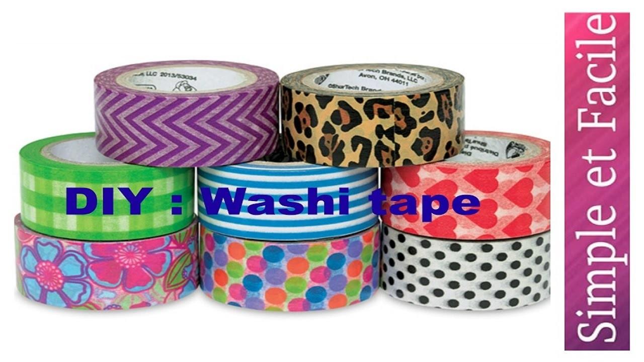 DIY Recycler un pot avec washi tape 2016