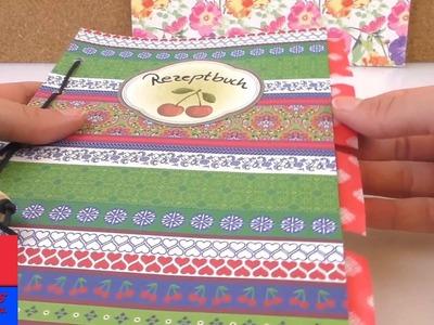 Fabriquer un livre de recettes pratique | Cahier avec reliures DIY |avec papier à motifs