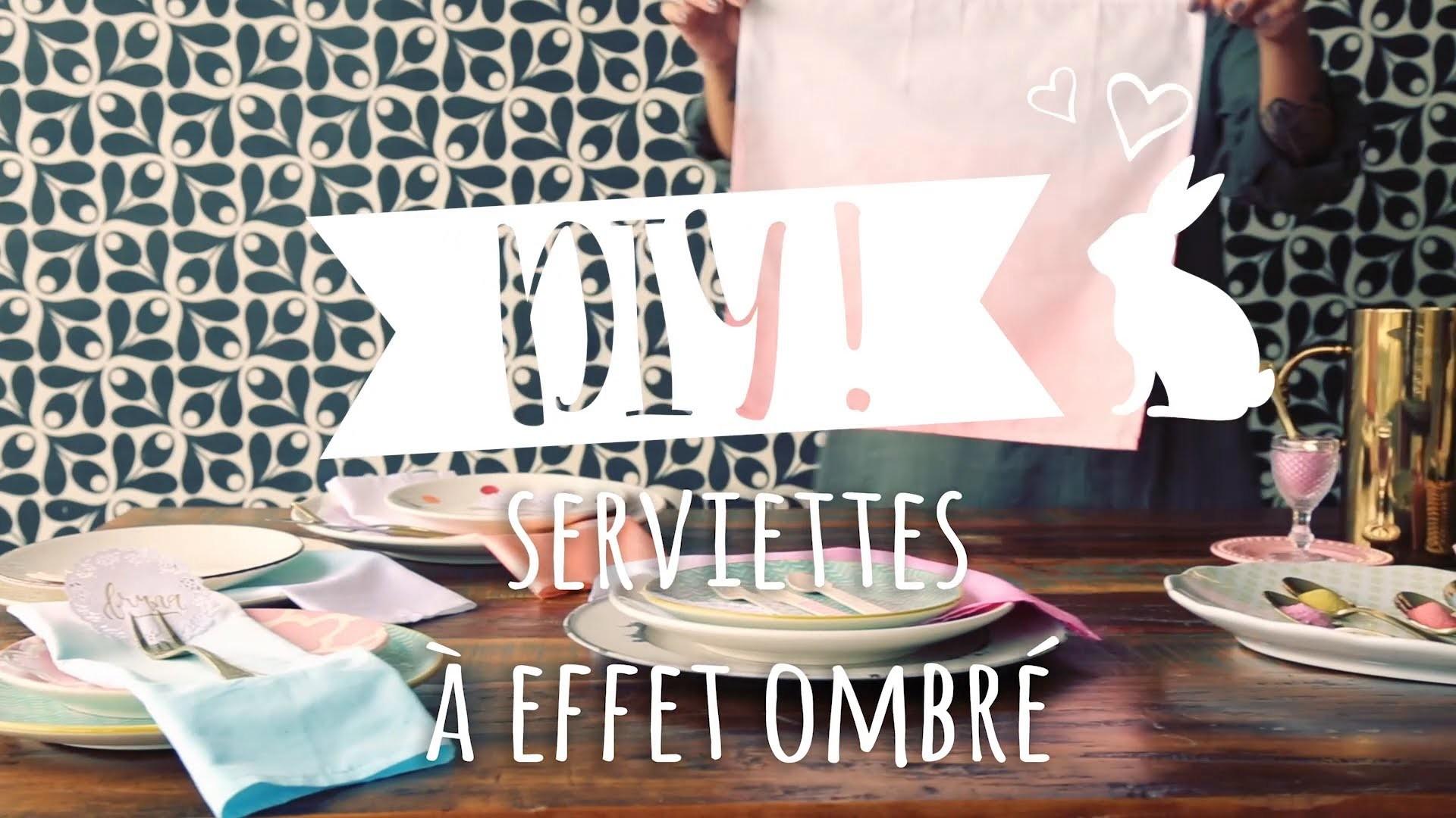 Fabriquer une serviette de table ombrée – DIY Westwing France