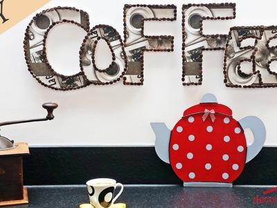 DIY - Tuto décoration cuisine avec des lettres en bois ! Ambiance Coffee, bistro, grains de café