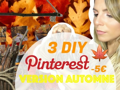 JE TEST DES DIY PINTEREST -5€ - VERSION AUTOMNE | 18BLVDHAUSS