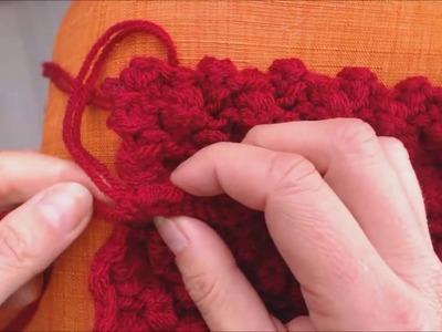Apprendre à tricoter : assemblage au crochet