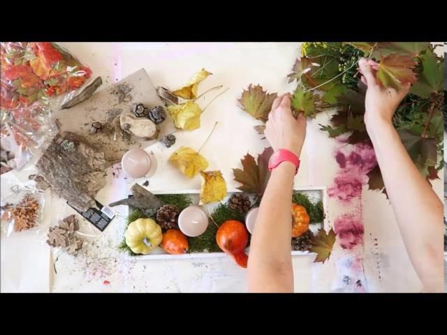 BecomeTheArtist.com - DIY Tuto Déco d'automne EXPRESS
