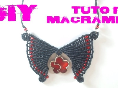 DIY - Tuto FR. Pendentif ailes en macramé