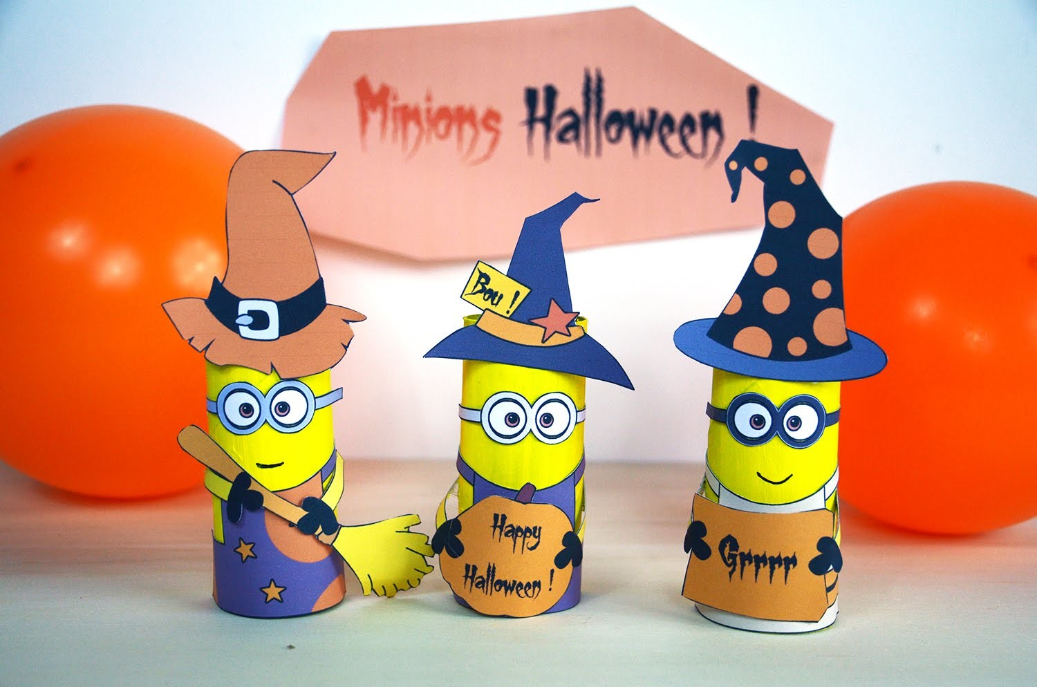 minions dhalloween activit manuelle bricolage enfant carton de papier toilette diy. Black Bedroom Furniture Sets. Home Design Ideas