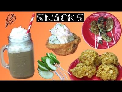 DIY | 4 Snacks pour l'automne