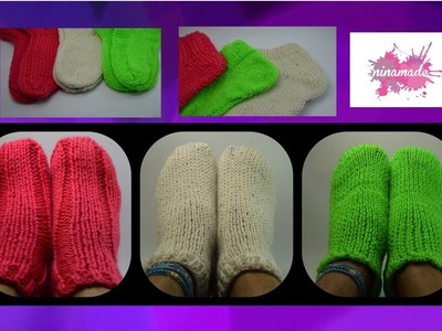 DIY. Tricoter des chaussettes avec deux aiguilles.Knitting socks with two needles