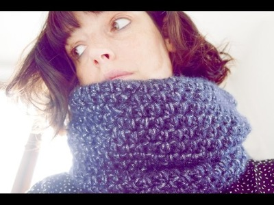 Snood double au crochet