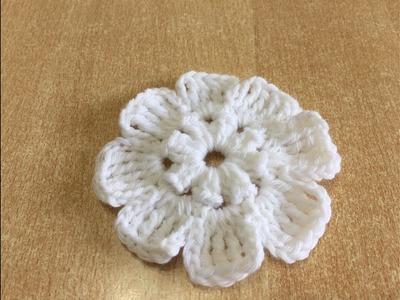 Tuto fleur au crochet  spécial gaucher