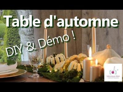 Déco Table d'automne chic - DIY - Conseil de réalisation