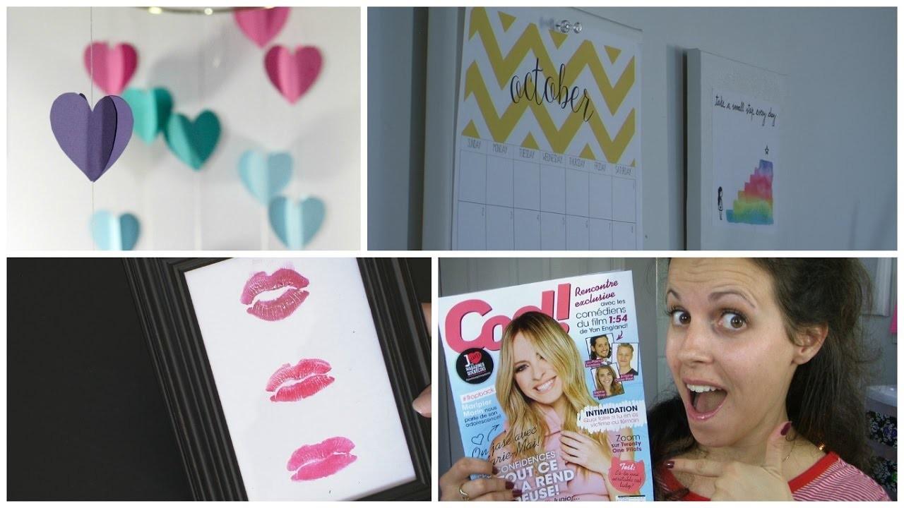 DIY pour décorer sa chambre façon PINTEREST ! + Magazine Cool!