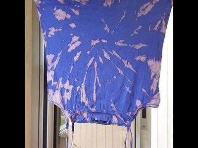1{DIY} tee-shirt decolorer tache onde tumblr eau de javel
