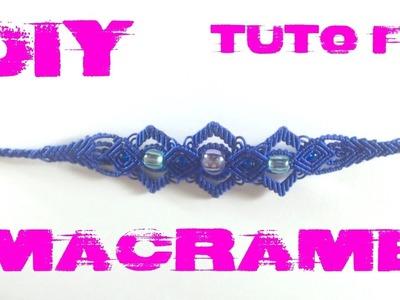 DIY -  Tuto Bracelet Vagues en Macramé