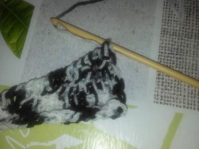 Écharpe queue de dragon au crochet tunisien
