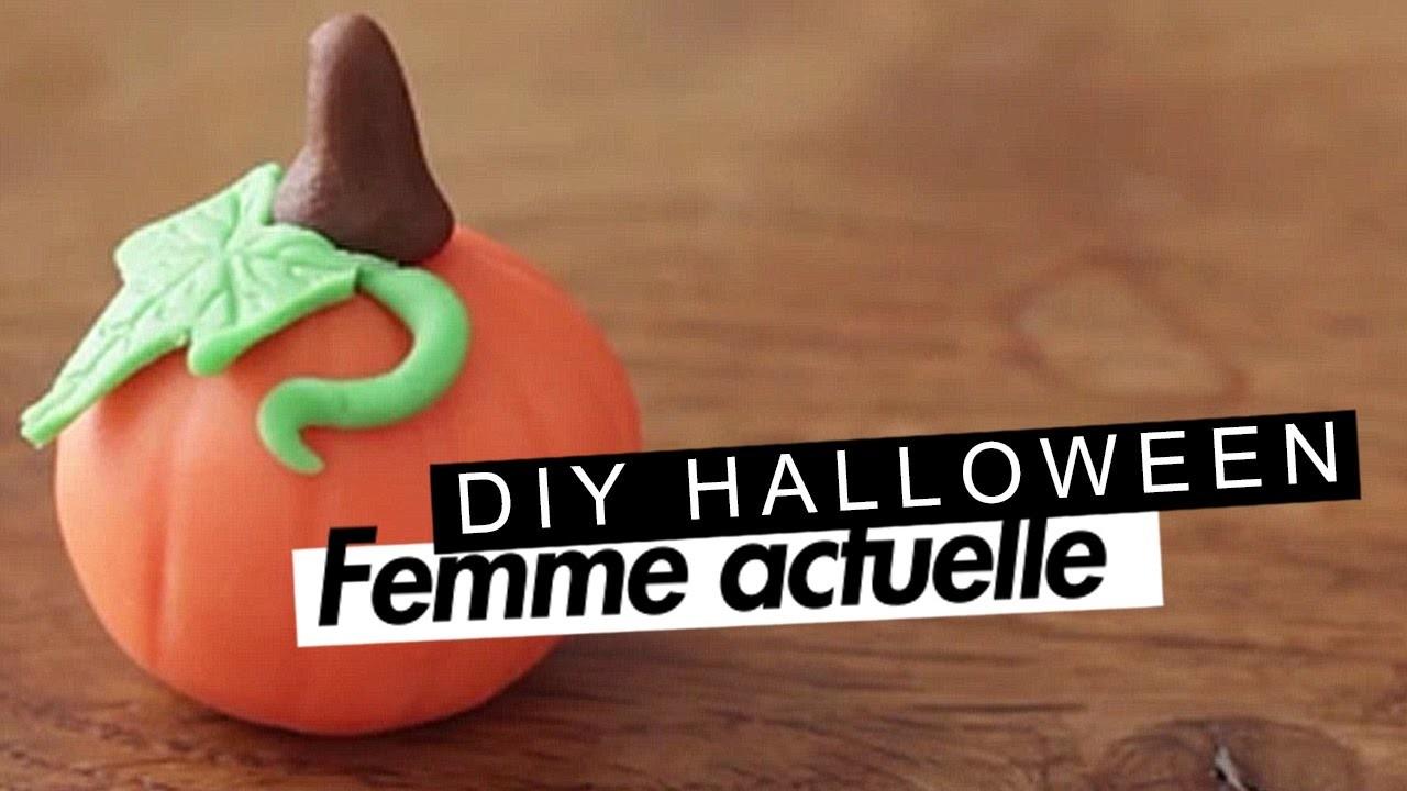 DIY : une citrouille en pâte à sucre pour Halloween !