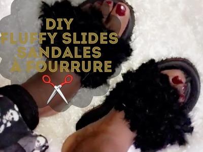 DIY | FLUFFY SLIDES. SANDALES A FOURRURE | GENYMAKS |