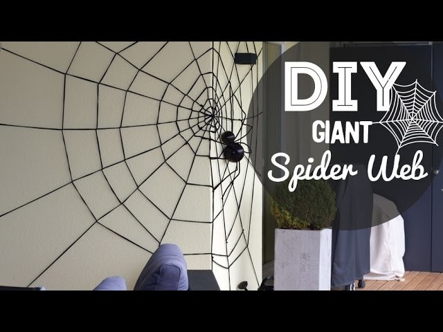 DIY Giant Spider Web for Halloween