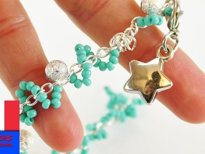Bijou à réaliser soi-même | Joli bracelet avec perles & pendentif | DIY Bracelet de l'amitié