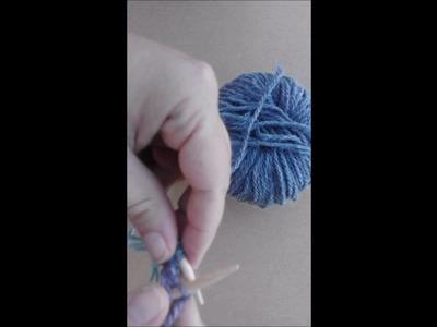 Monter les mailles et placer les marqueurs de maille  Cast on the stitches and put the stitch marker