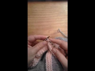 Tricoter 2 mailles dans une à l'endroit  Make 1