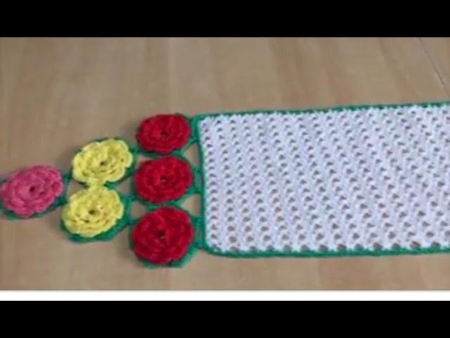 Tuto chemin de table avec fleure hexagone spéciale gauchères