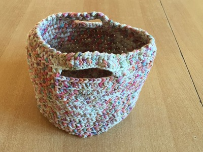 Tuto panier, sac au crochet spécial gaucher