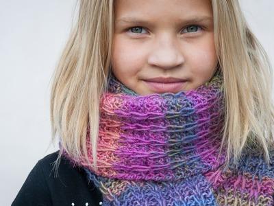 Tuto tricot débutants: écharpe mailles glissées.