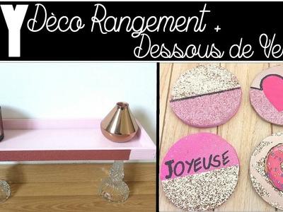 2 DIY Déco Rangement + Dessous de Verres