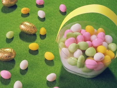 DIY Déco Pâques panier à oeufs avec pot à yaourt