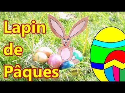 Lapin de Pâques : facile à faire en carton DIY