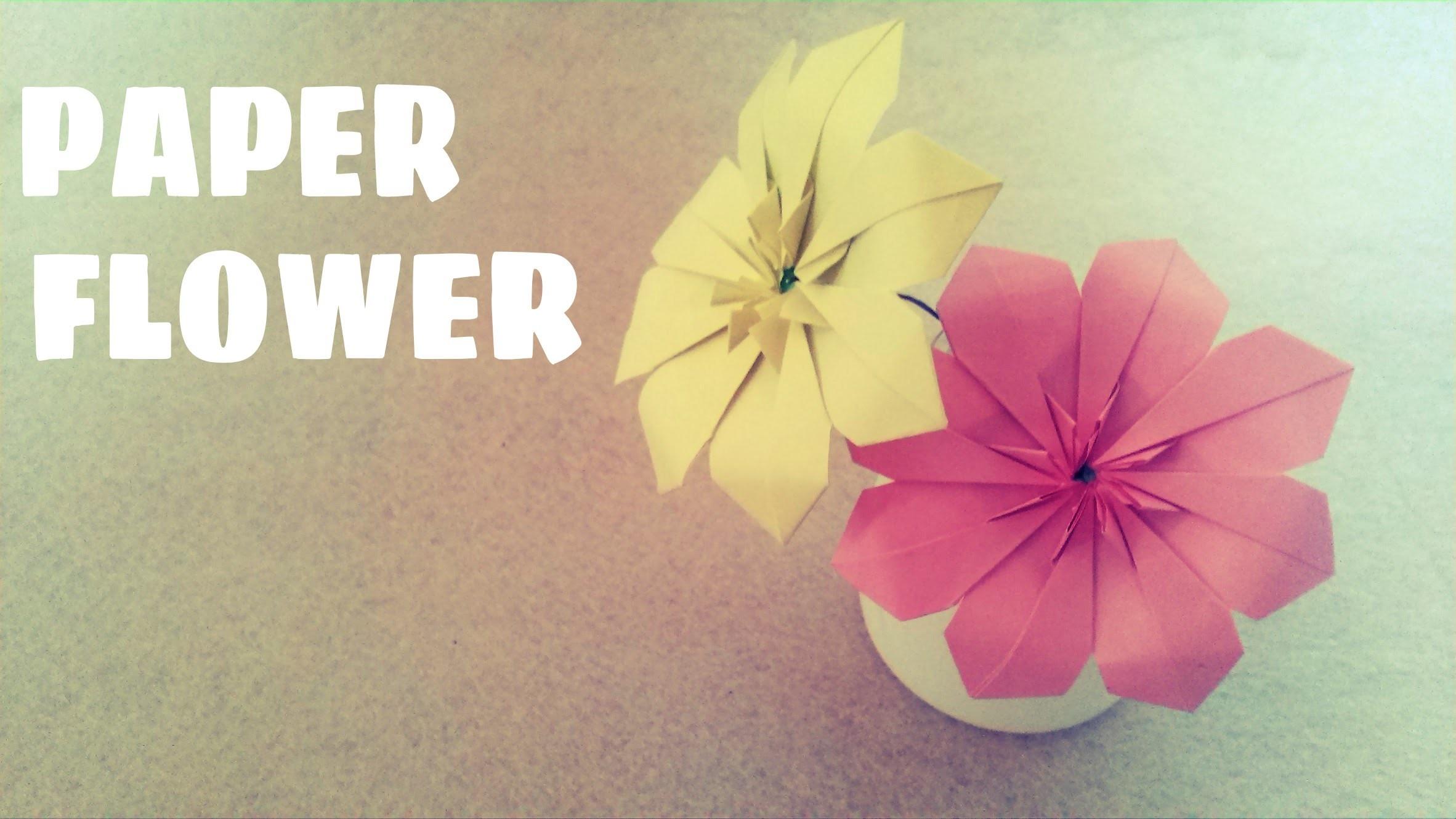 Origami facile - Fleur en origami - Fleur en papier