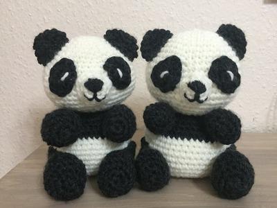 Tuto panda au crochet spécial gaucher 1.2