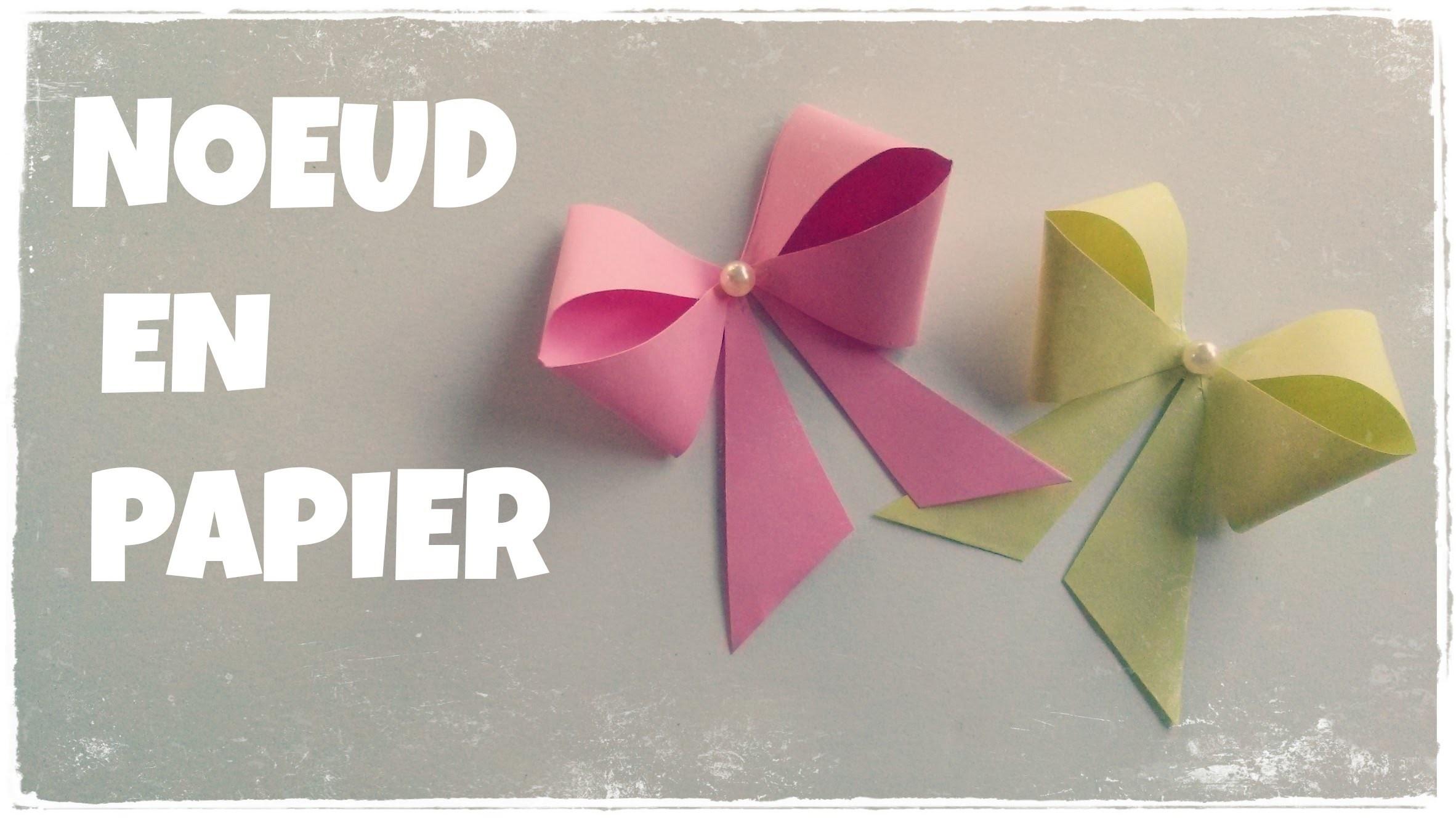 Comment Faire Un Noeud En Papier Facile Boite Cadeau Decoree
