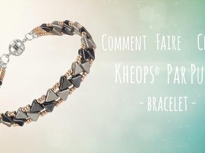 [FRANCE] Comment faire un bracelet en perle de Rocaille et Kheops® Par Puca®