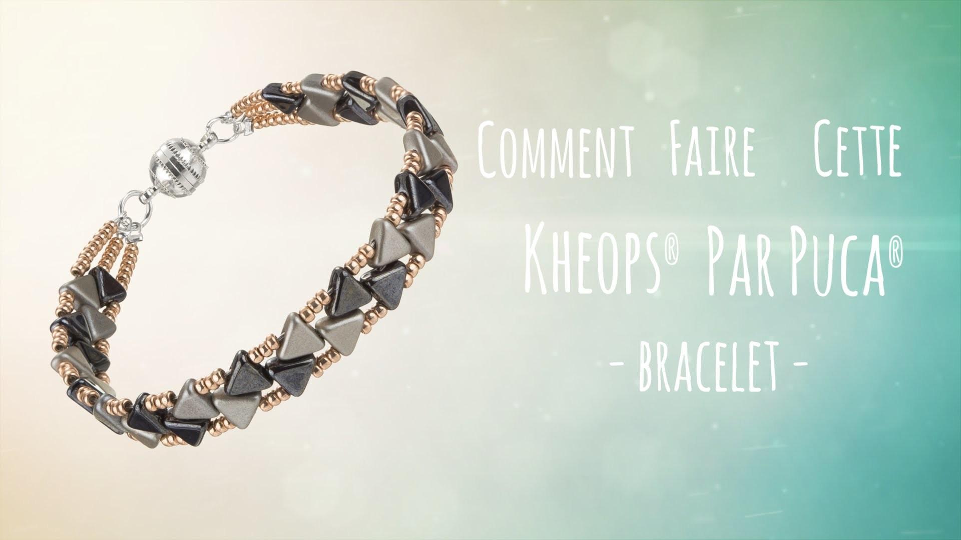 france] comment faire un bracelet en perle de rocaille et kheops