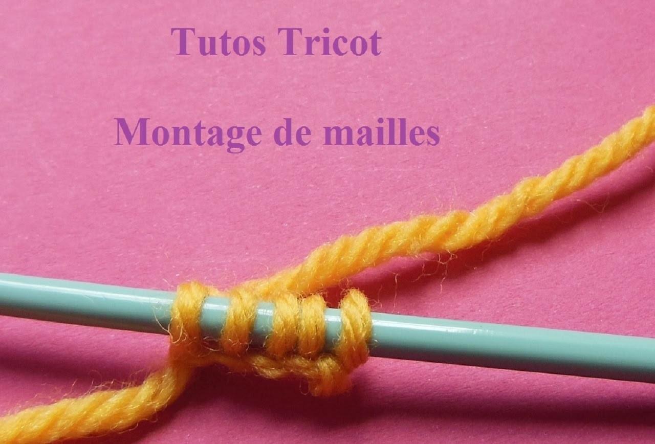 Montage de mailles tricot sur aiguille apprendre tricoter knitting tutorial aprender a tejer - Apprendre a tricoter gratuitement ...