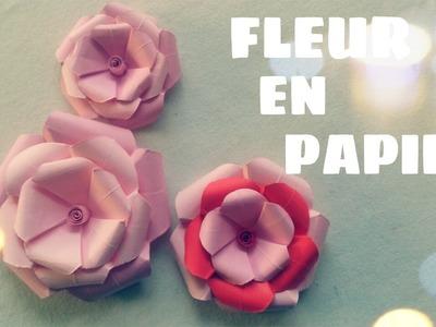 Origami facile - Comment realiser une fleur en papier