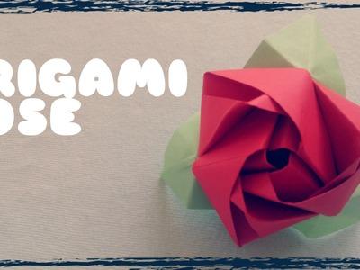Origami facile - Rose en papier
