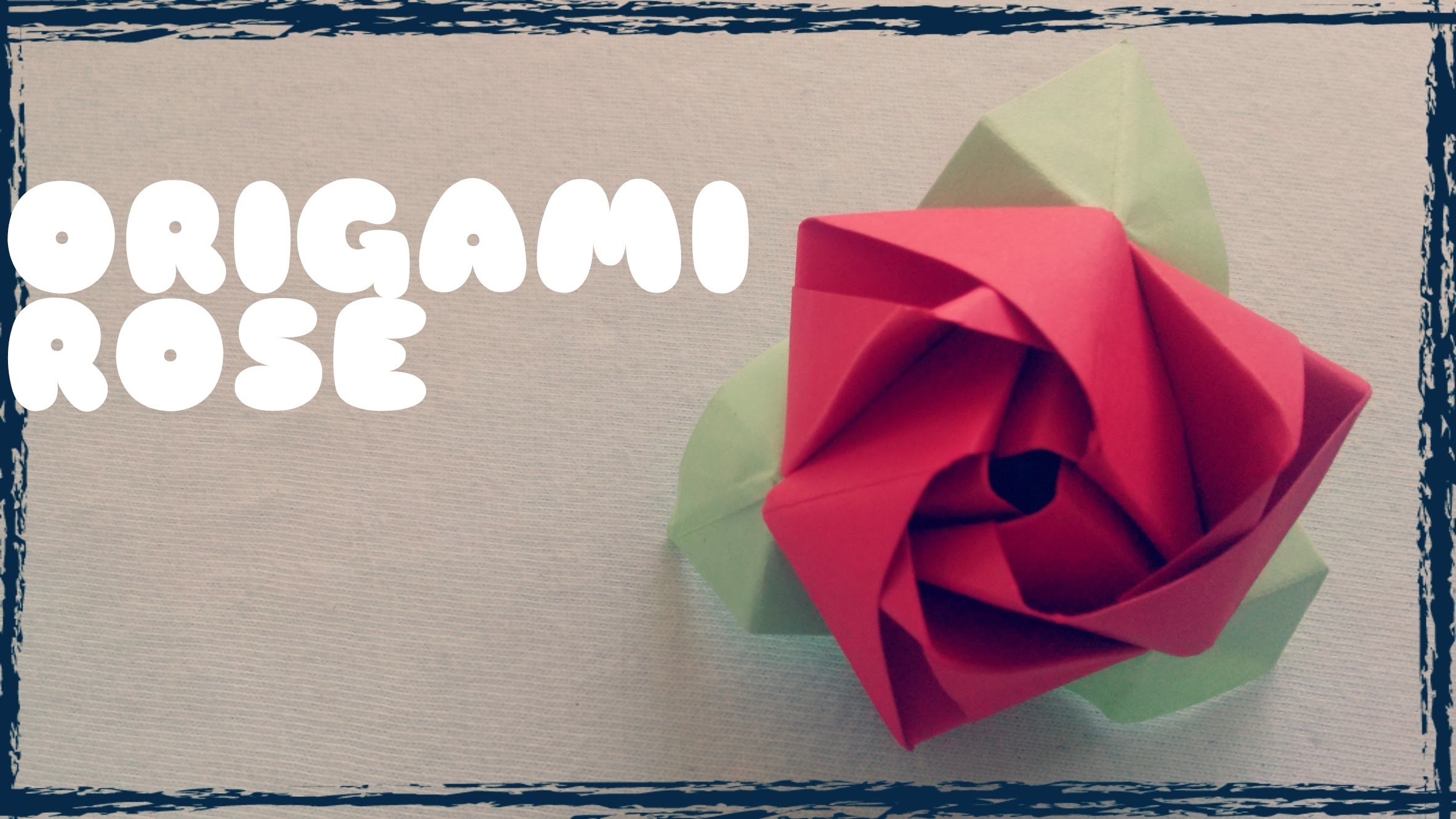 Origami Facile Rose En Papier My Crafts And Diy Projects