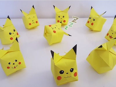 Origami Pokémon de Pikachu ! Des mini astuces de FOLIES !!