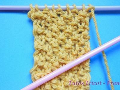 Tuto Tricot Point de Blé | Apprendre à tricoter le point de blé | Tricot pour débutant