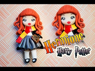 Chibi Hermione Harry Potter, fimo Polymer Clay
