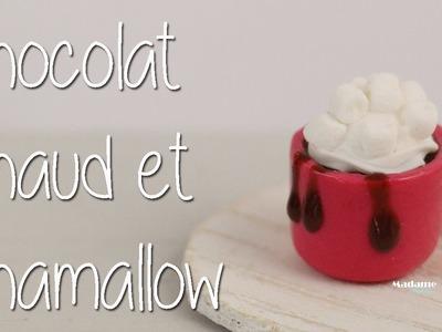 Chocolat chaud et petits chamallow.