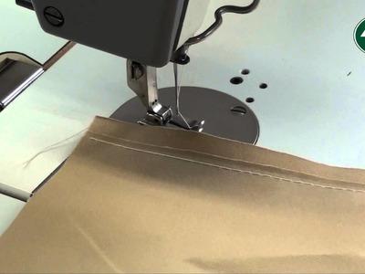 Apprendre à faire une couture rabattue en toile de tente