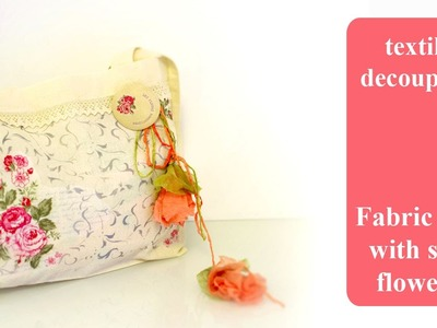 DIY Canvas tote bag   How To Personalise A Fabric Bag   Découpage TUTORIAL with Pentart Products