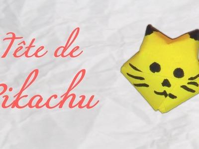 Origami ! Tête de Pikachu [Pokemon origami]