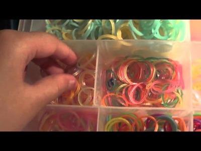 Rangement Rainbow loom ( élastiques ) !