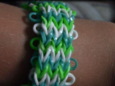 Comment faire un bracelet queue de poisson triple