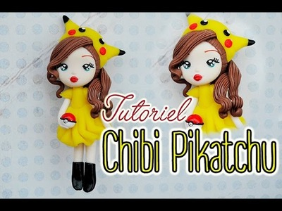 Chibi Pikatchu fimo Polymer clay pokémon