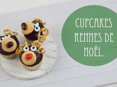Cupcakes Rennes de Noël (pâte polymère).